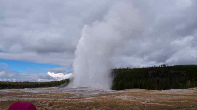 Im Yellowstone N.P.-der Old Faithful