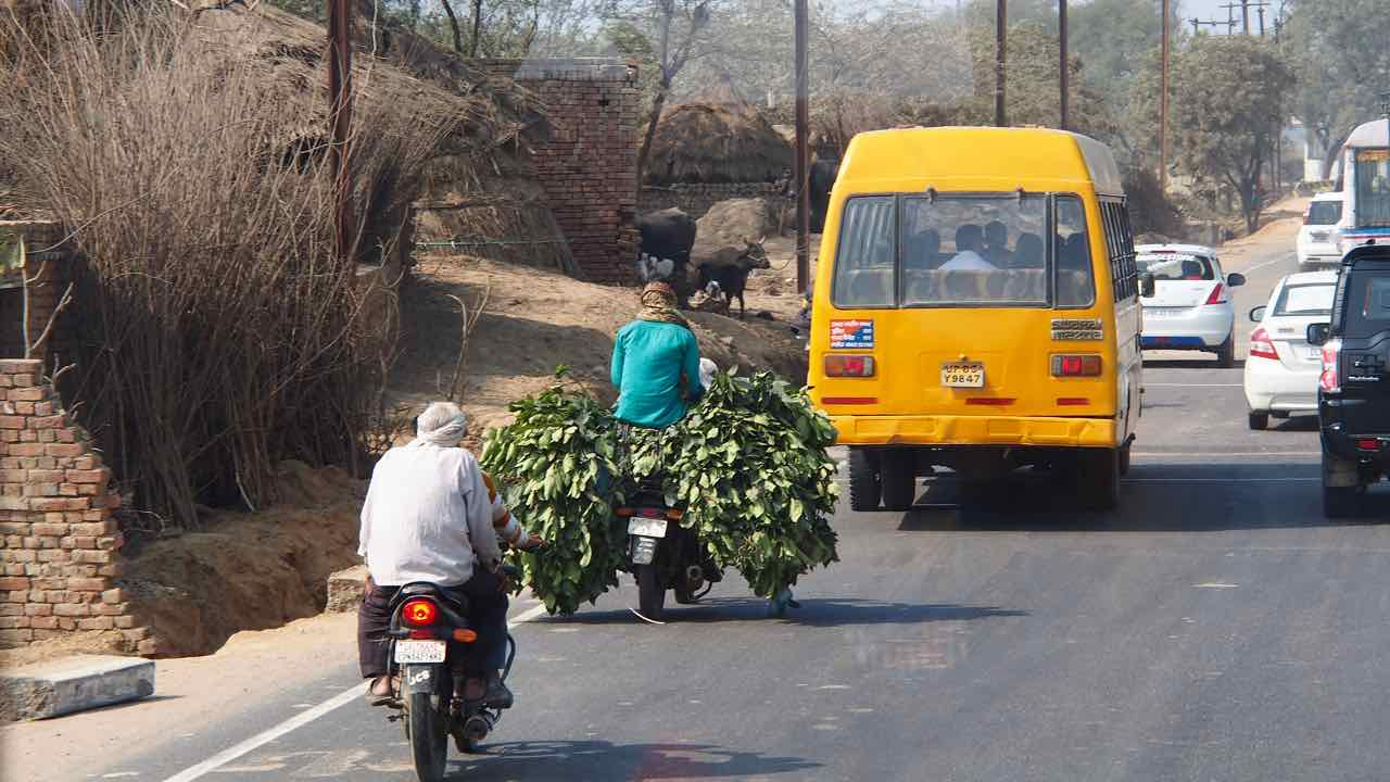 am Weg nach New Delhi