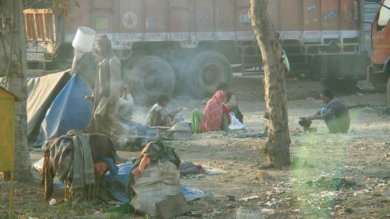 Slums in New Delhi